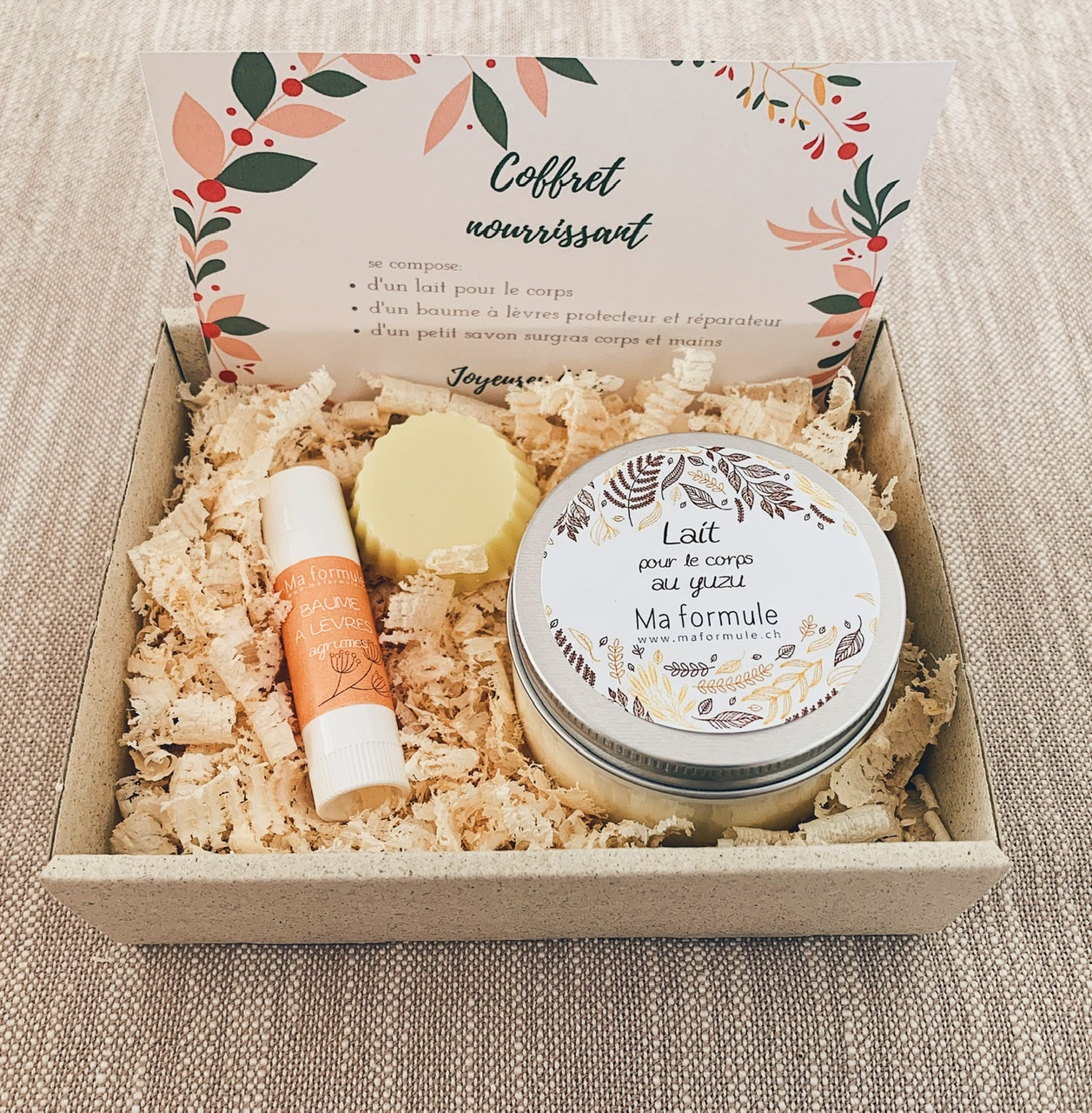 Nourishing box with body milk